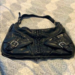 Junior Drake black handbag